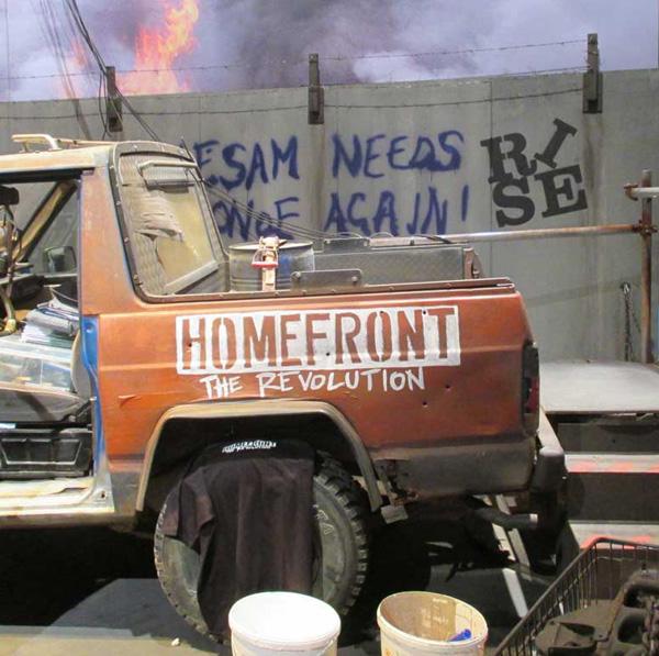 """Schriftzüge am Stand """"Homefront"""" auf der Gamescom"""