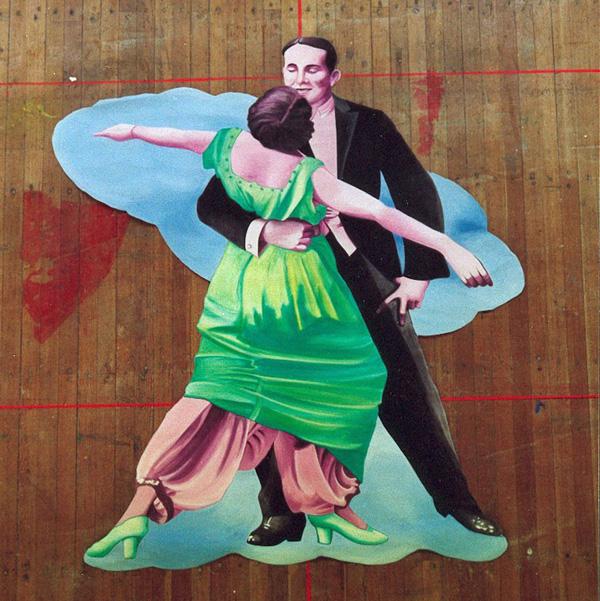 Theatermalerei auf Nessel für Opernball Kiel