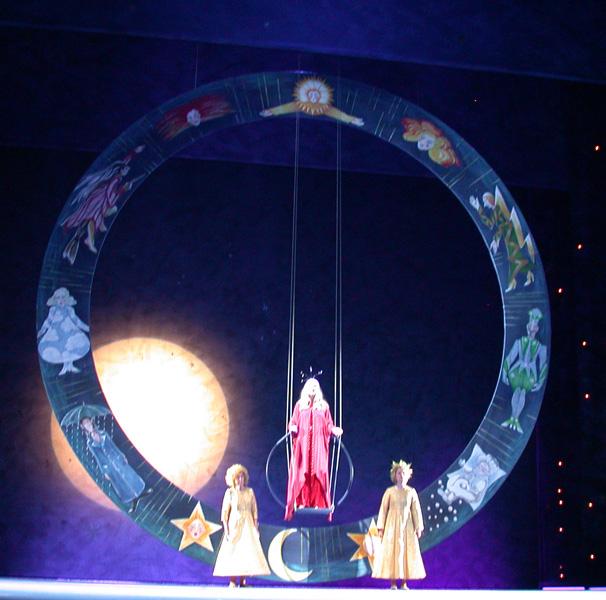 Bühnenbild: Theatermalerei auf Sperrholz für Weihnachtsmärchen in Kiel